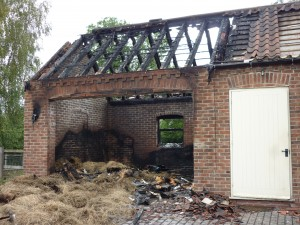 Arson attack on the charity's Homing Centre in July 2010 - we re-opened this section as a new cattery wing the following year