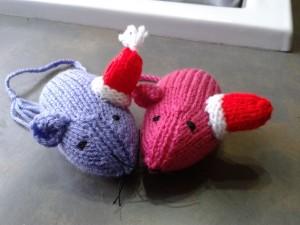 catnip mice santa hats