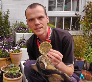 Steve Worth pictured with his 2016 London Marathon medal